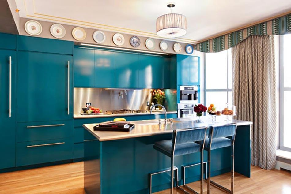 Une cuisine en bleu inspir e par la mer for Cuisine complete bleu
