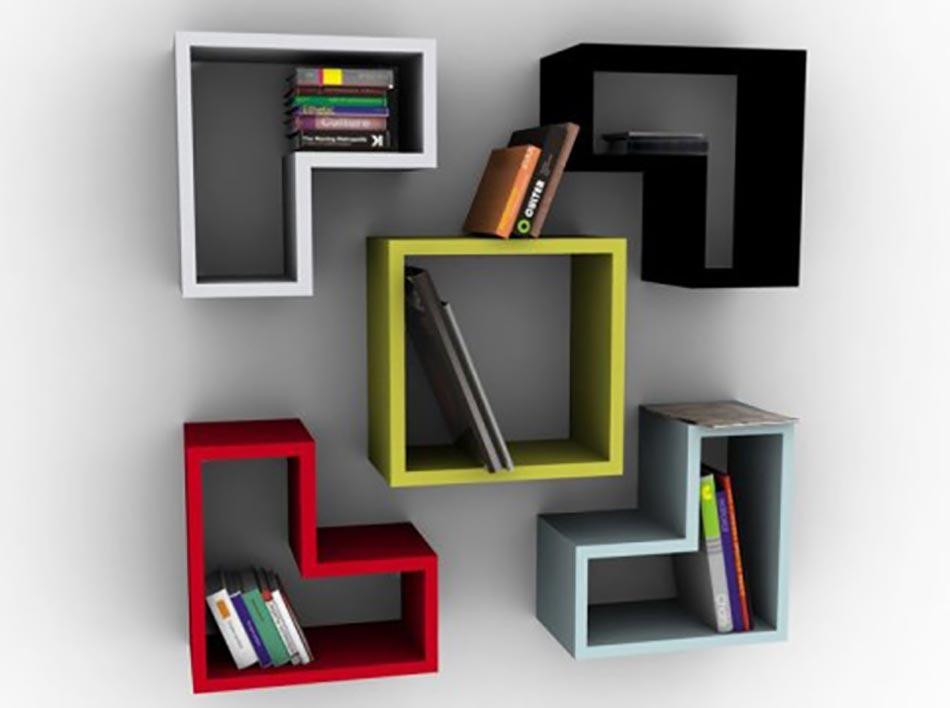 Les tag res en tant que mobilier de bureau cr atif design feria - Bureau etagere design ...