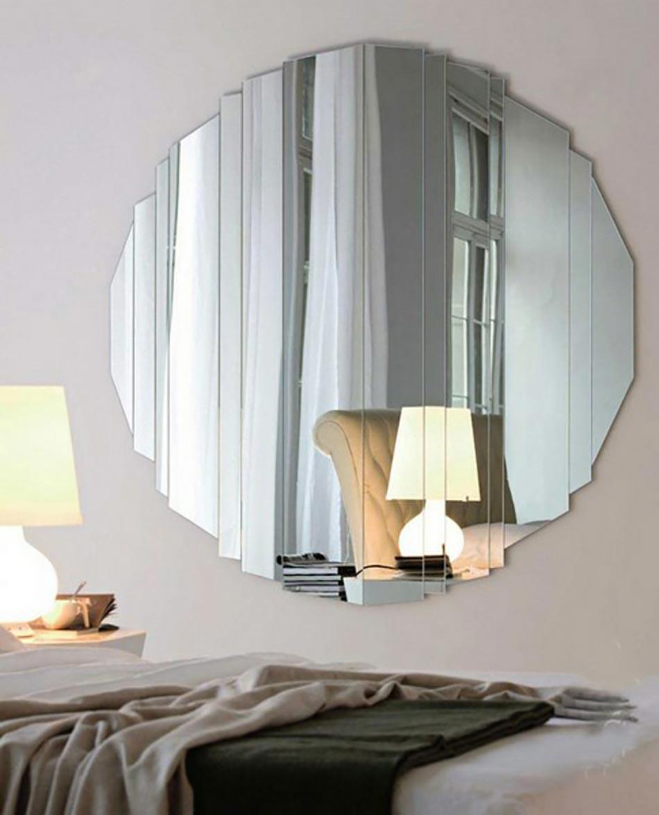 Exceptionnel Miroir Composé De Lattes