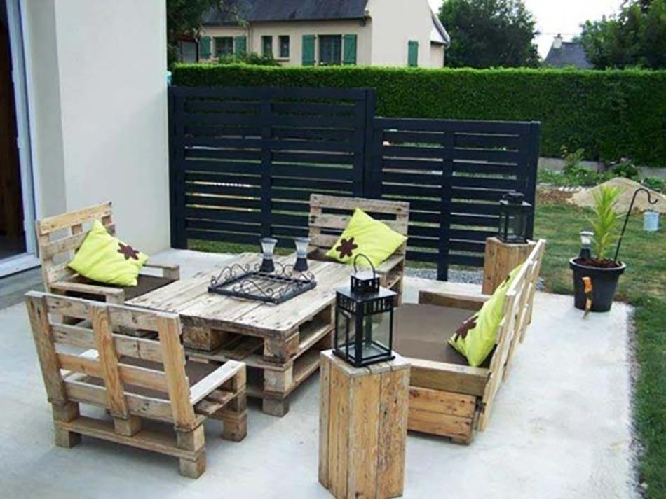 Faire mobilier de jardin en palette - Salon de jardin sophie ...