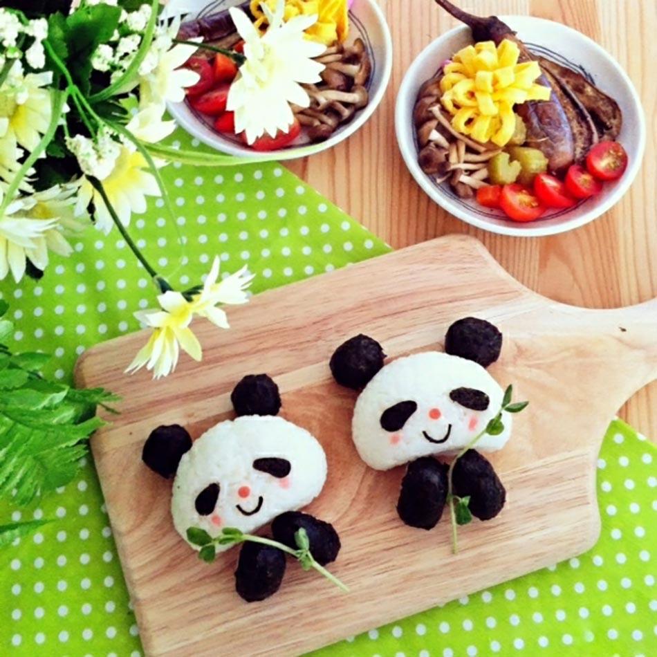 Charmant Pandas Repas équilibrés Pour Les Enfants