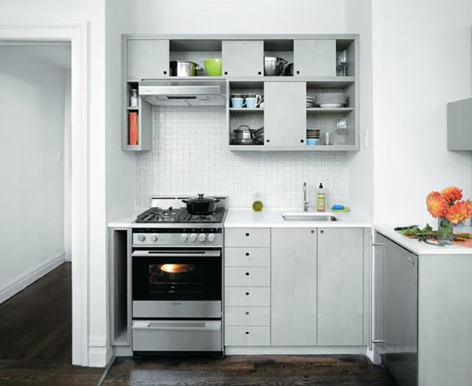 La kitchenette moderne quip e et sur optimis e for Cuisine amenagee ou equipee