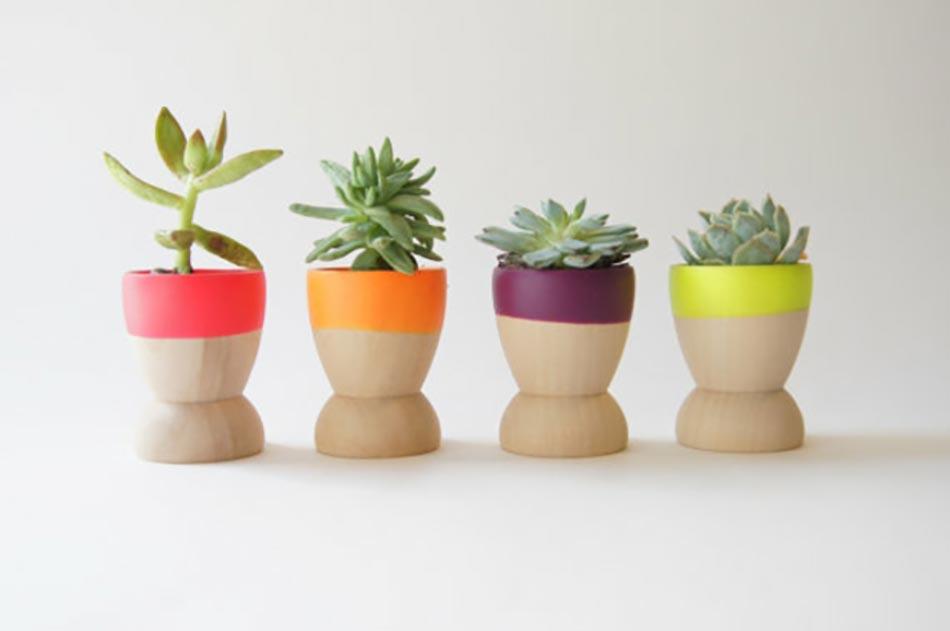 Mini jardini res et pots d int rieur aux herbes aromatiques for Pot de plante design