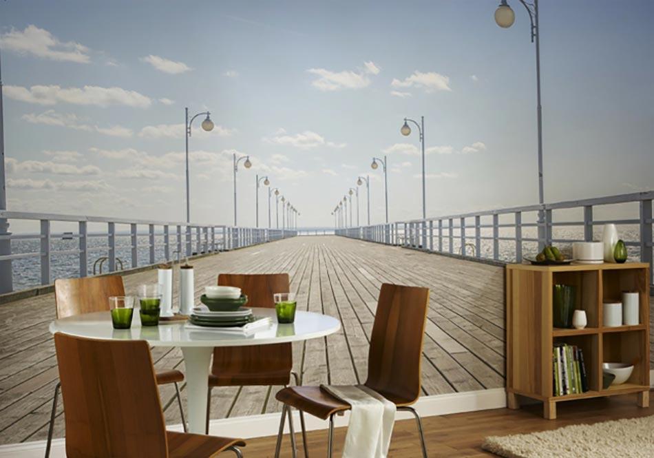 Papier Peint Panoramique U2013 Promenade Au Bord De La Mer