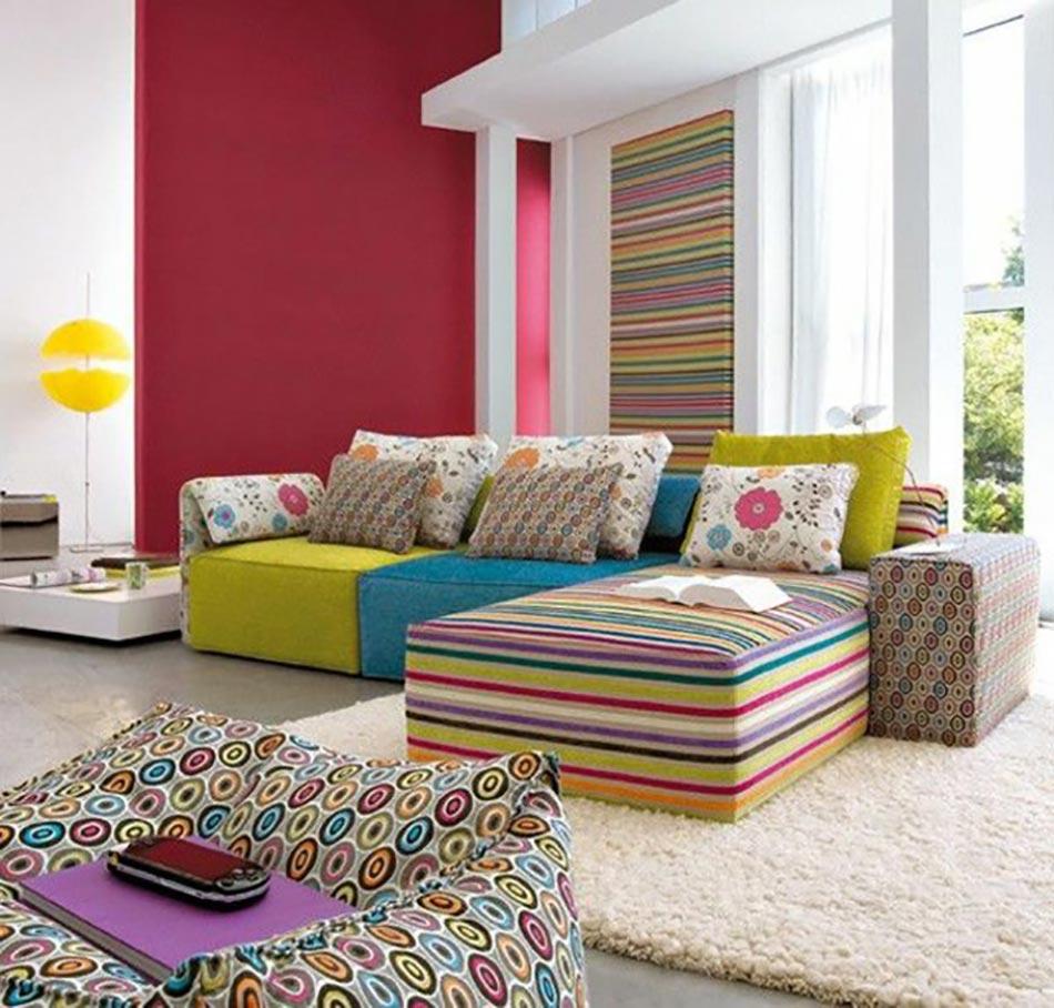 Salon d co de temp rament haut en couleurs for Decoration salon moderne couleur