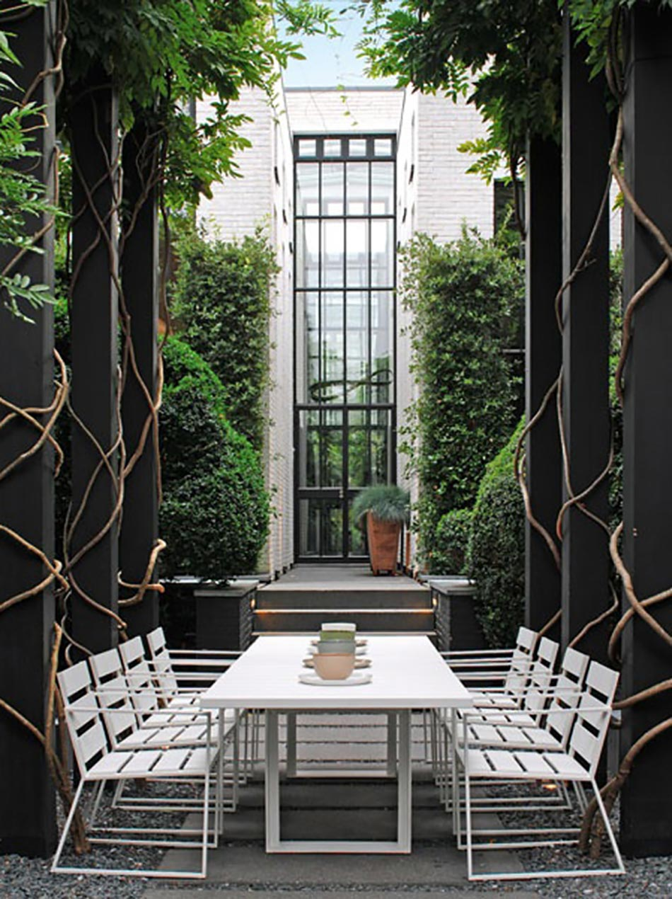 terrasse imposante au meubles outdoor chic