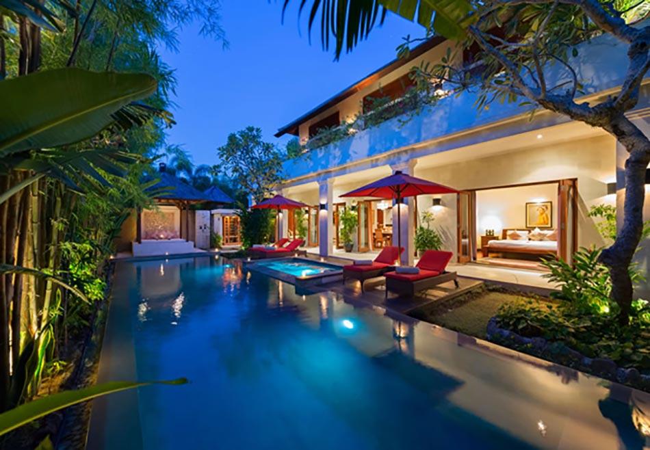Bali les jardins paradisiaques des villas de vacances for Model de villa de luxe