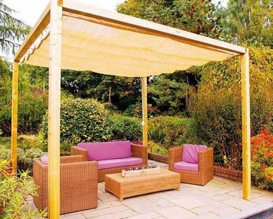 Les voiles d ombrage pour embellir notre jardin ou balcon for Pergola originale