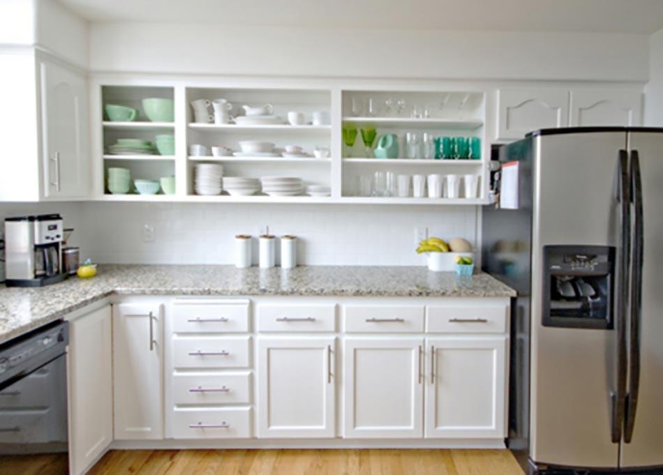 Relooking petit prix de la cuisine en 6 jours for Modele placard cuisine bois