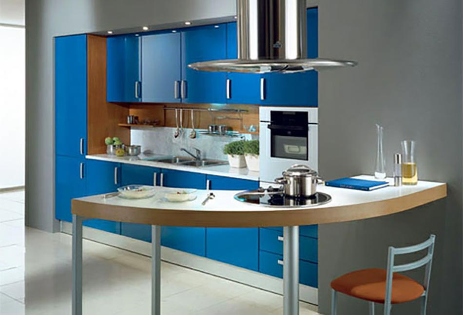 Peinture de Cuisine Cuisine Couleur Bleu Petrole-Une cuisine en bleu ...