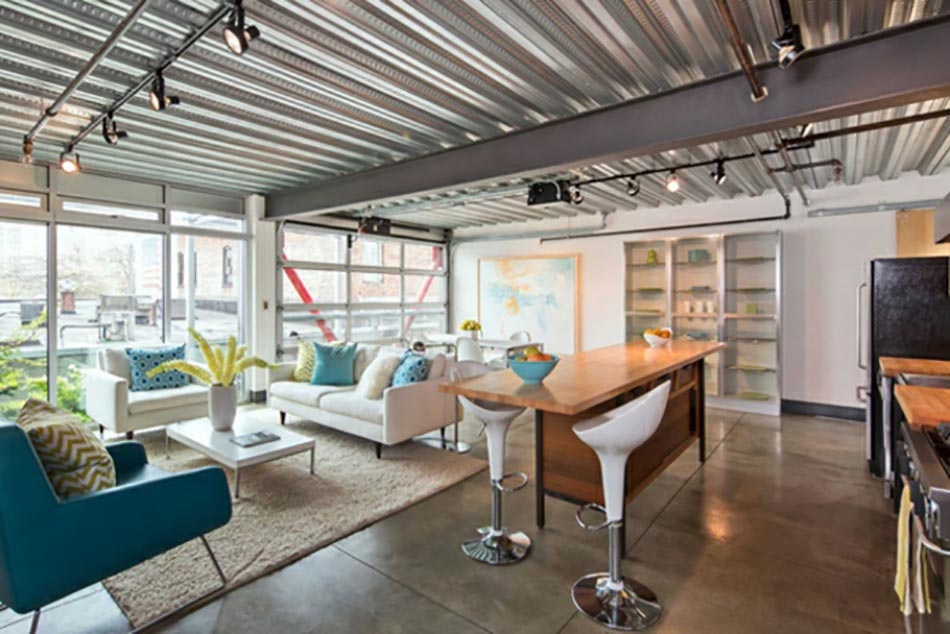Sejour Style Industriel Esprit Loft New Yorkais Pictures to pin on ...