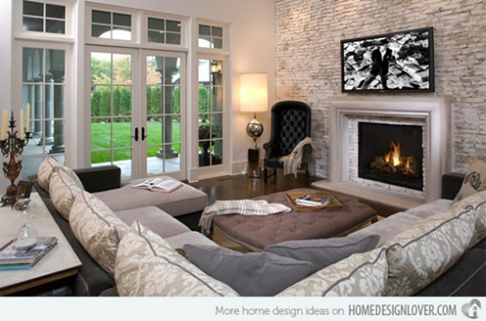 d coration murale salon rustique. Black Bedroom Furniture Sets. Home Design Ideas