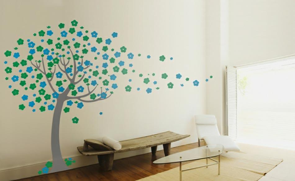 20 stickers muraux art d co qui illumineront vos pi ces - Stickers muraux arbre ...