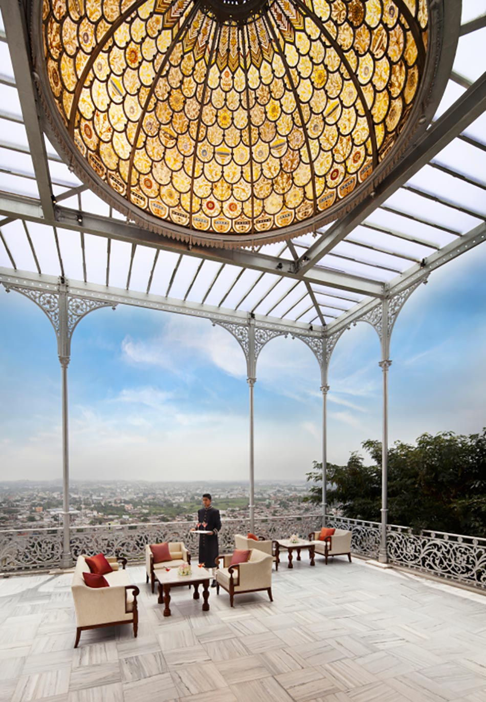 Terrasse à la vue panoramique sur Hyderabad