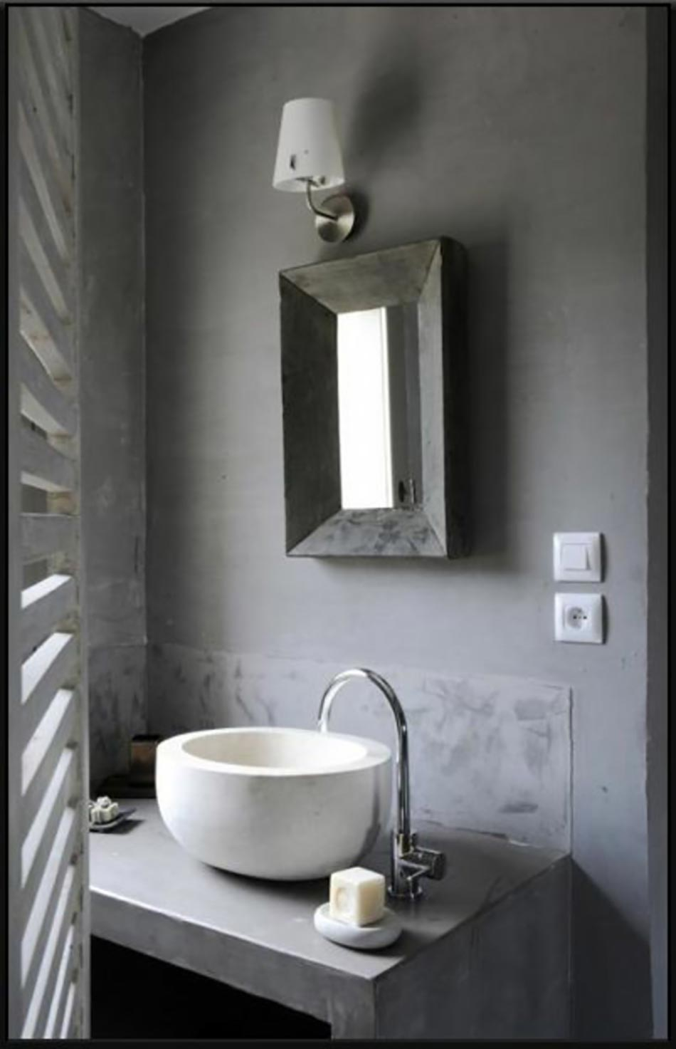 16 id es b ton pour des salles de bain design for Petite salle de douche design