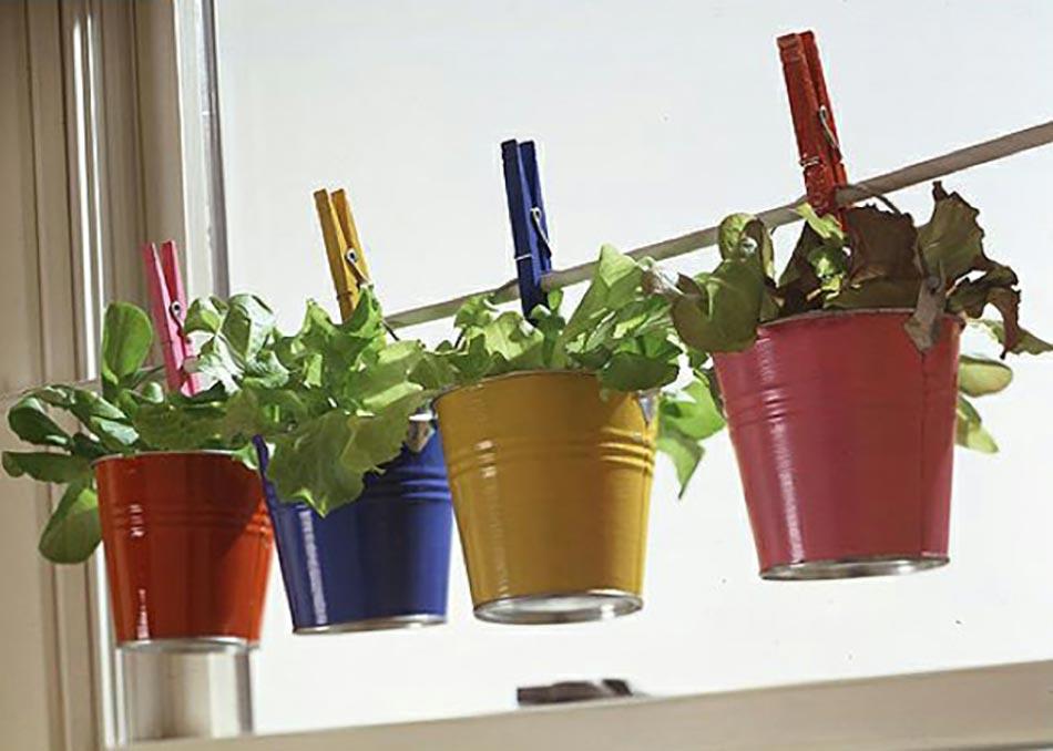 Mini jardini res et pots d int rieur aux herbes aromatiques for Bac a plante leroy merlin