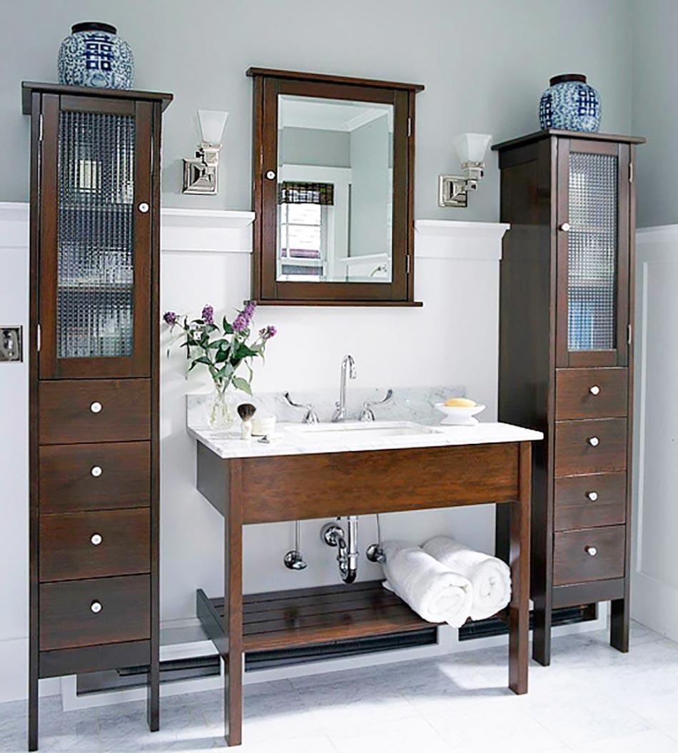 astuces int ressantes de rangement salle de bain design. Black Bedroom Furniture Sets. Home Design Ideas