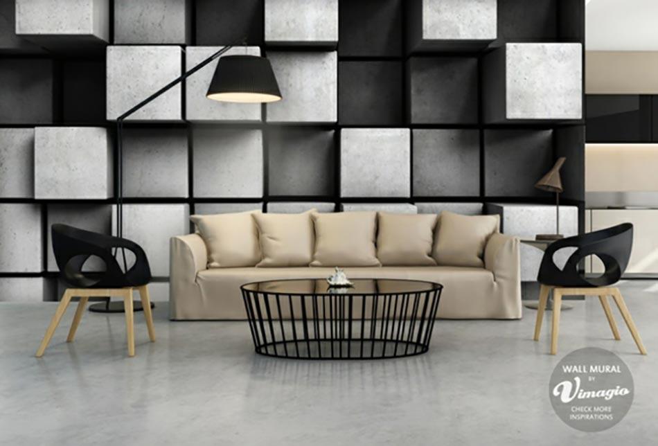Stickers muraux en 3d par vimagio design feria - Murales de pared 3d ...