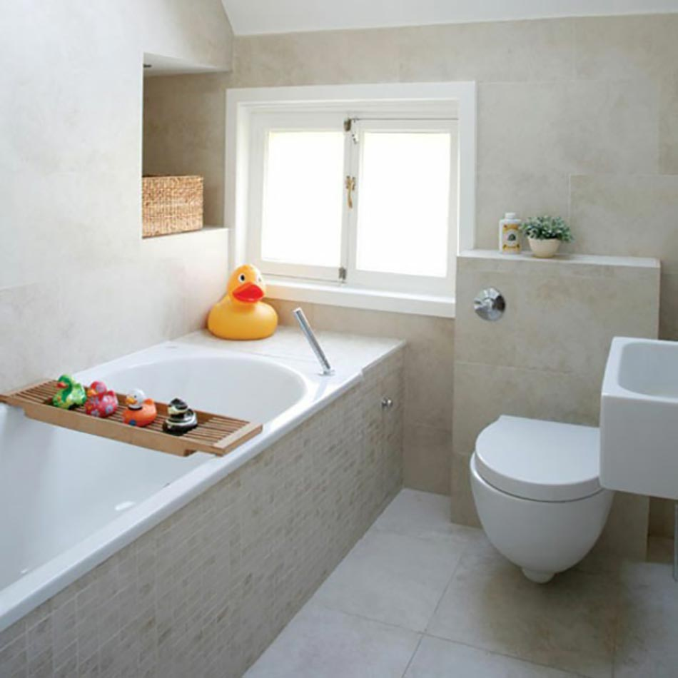 amenagement comble design salle de bain