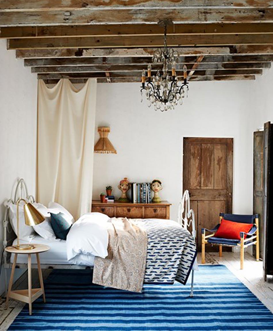 chambre rustique pour des vacances bucoliques design feria. Black Bedroom Furniture Sets. Home Design Ideas