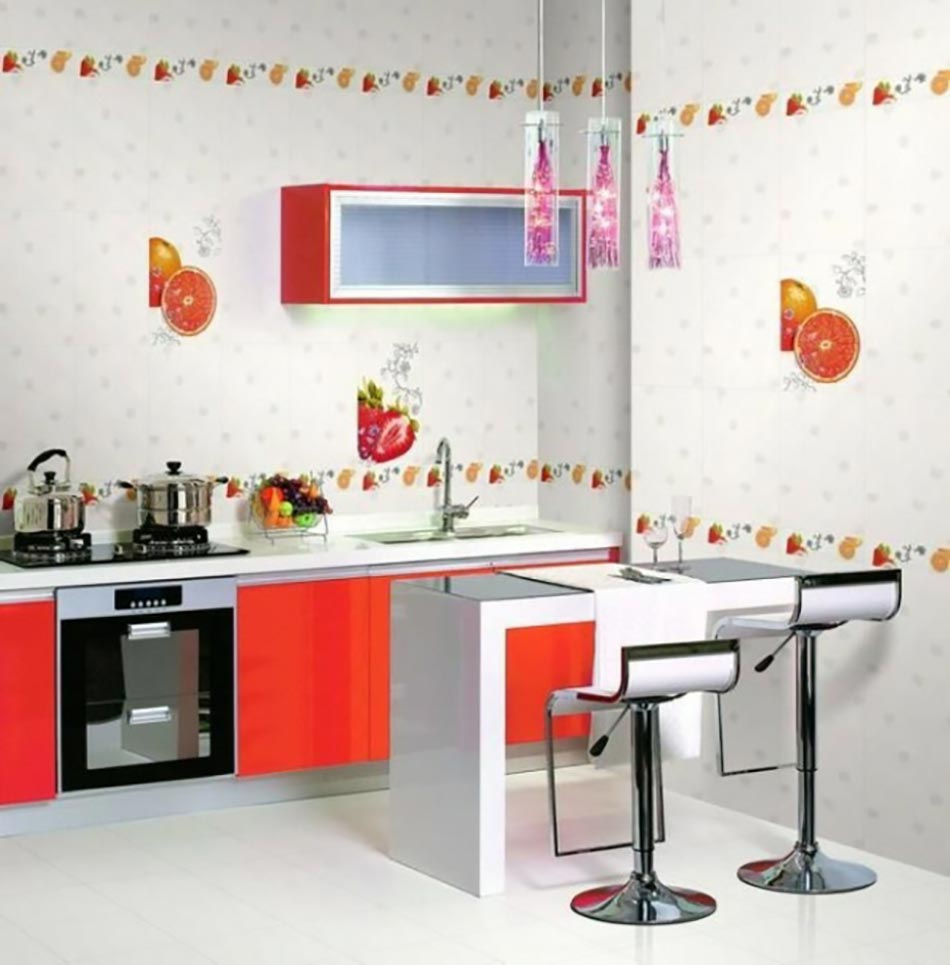 deco murale fruits des annees 70