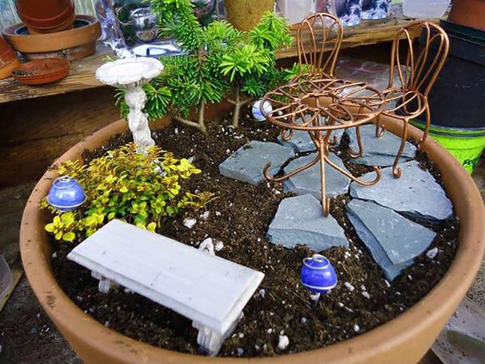 L art du mini jardin coquet for How to make a miniature garden