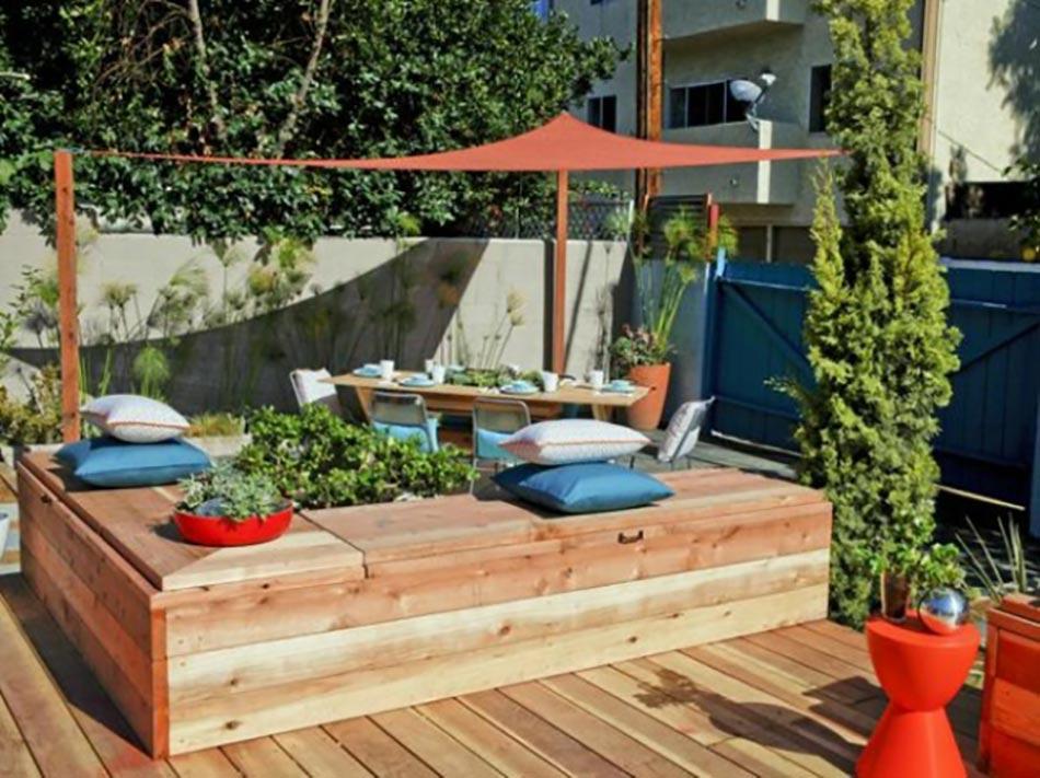 L am nagement des espaces de vie ext rieurs design feria - Mobilier jardin bois saint paul ...