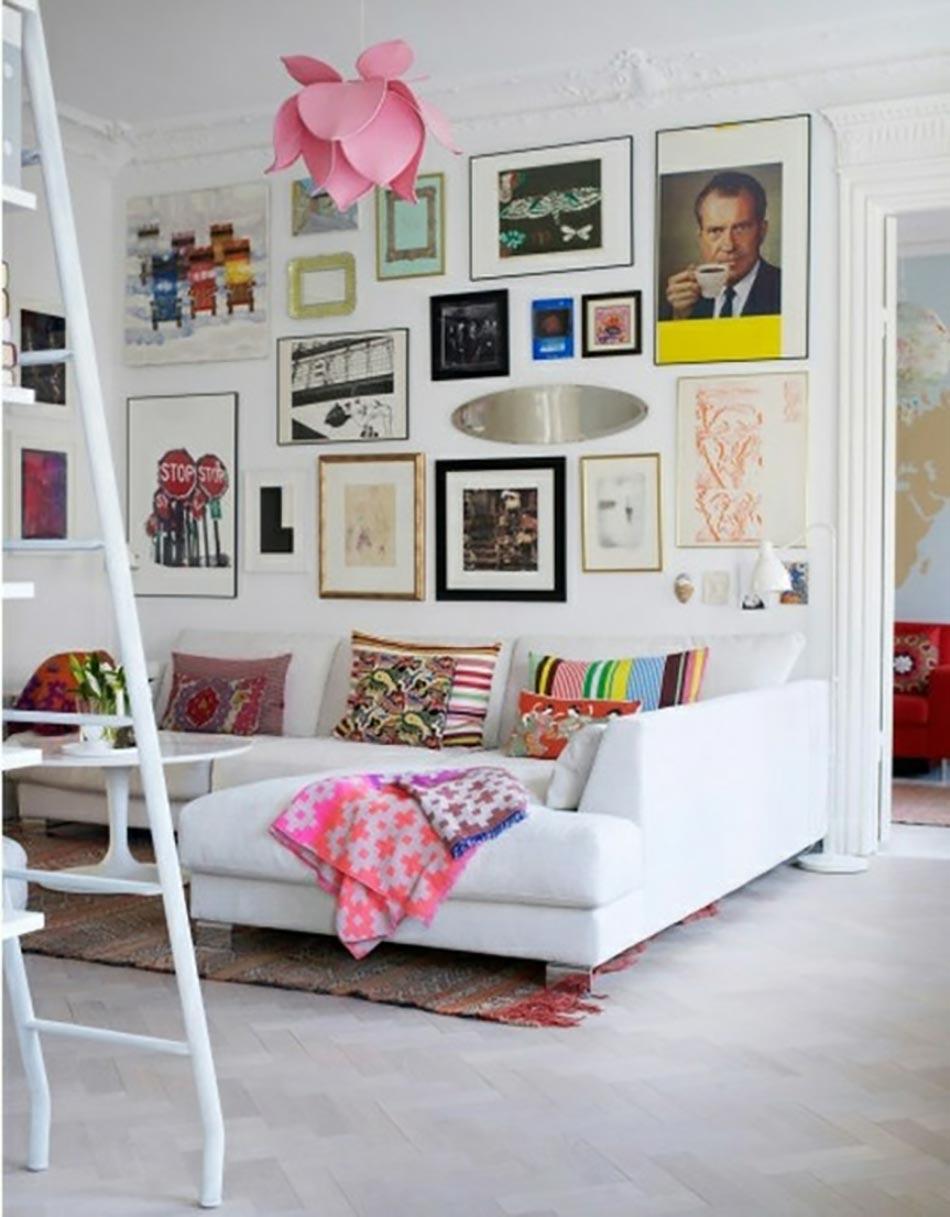 Salon design aux allures déco éclectiques