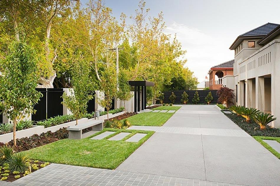 aménagement extérieur terrasse classique côté maison