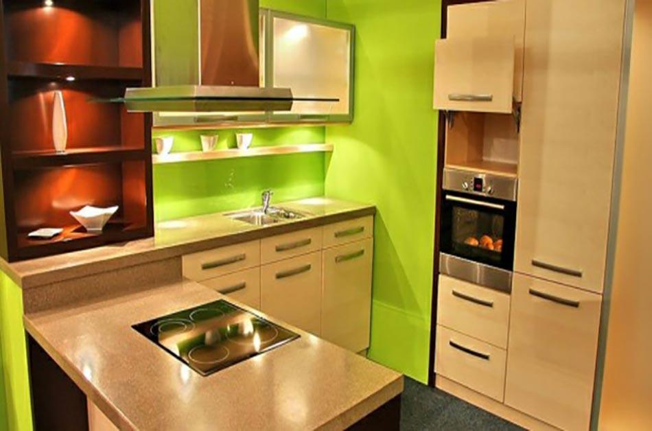 Quand notre cuisine design se met au vert for Meuble cuisine vert anis