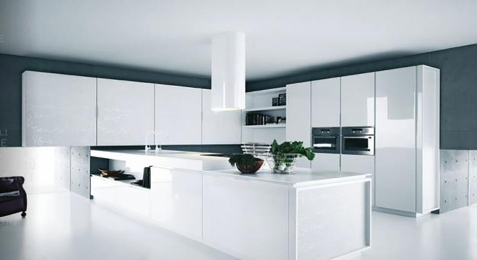 Cuisine design ou la magie du blanc design feria for Cuisines blanches design