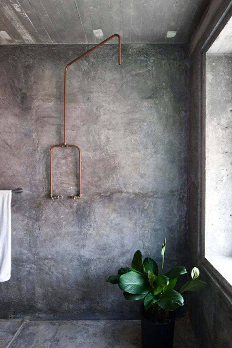 16 id es b ton pour des salles de bain design for Beton mineral mur salle de bain