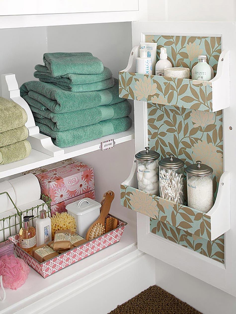 Astuces int ressantes de rangement salle de bain design for Placard haut salle de bain