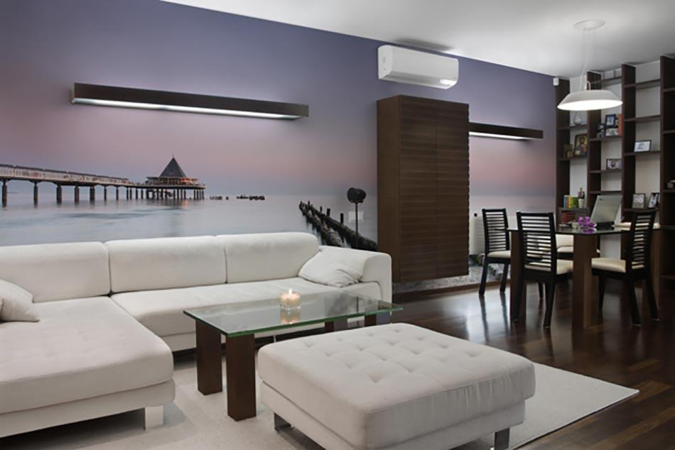 Paysage int rieur magnifique en papier peint panoramique for Papier peint bord de mer