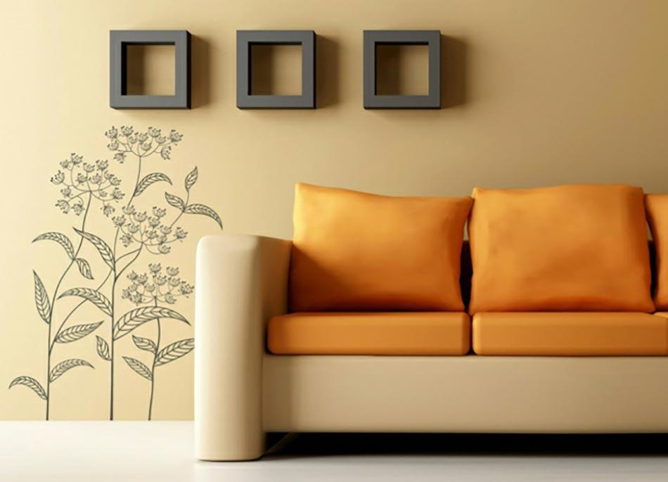Captivant Stickers Muraux Fleur Haute