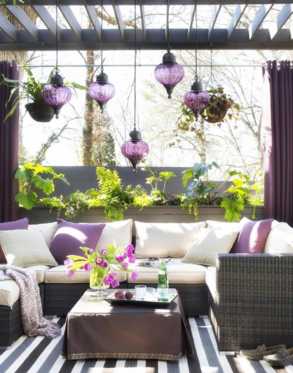 id e terrasse violet. Black Bedroom Furniture Sets. Home Design Ideas