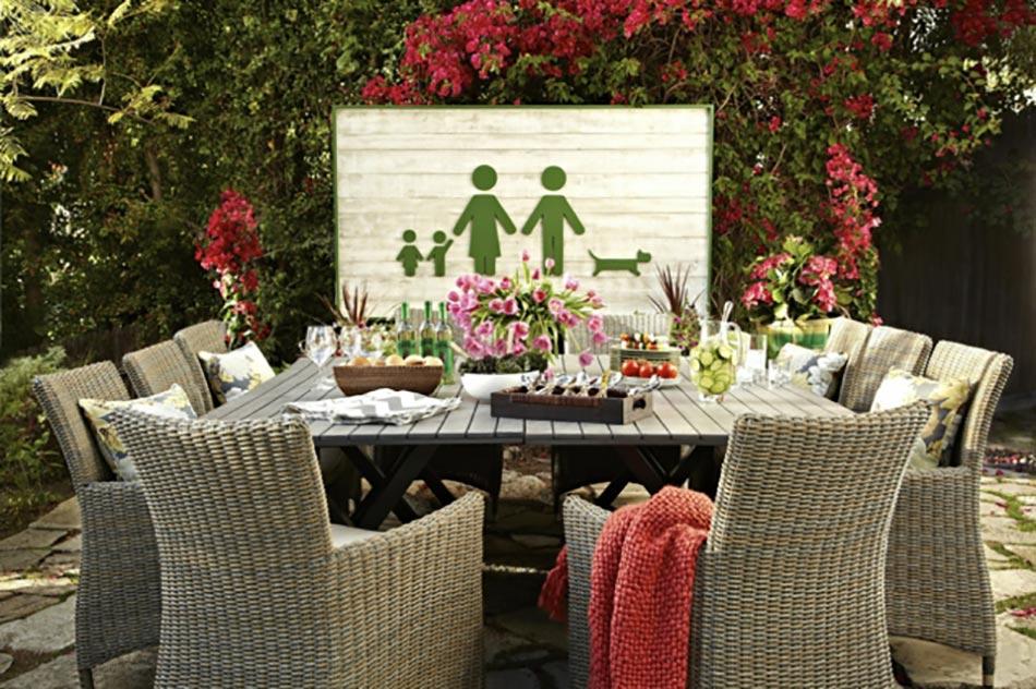 Decoration de table pour recevoir en plein air | Design Feria