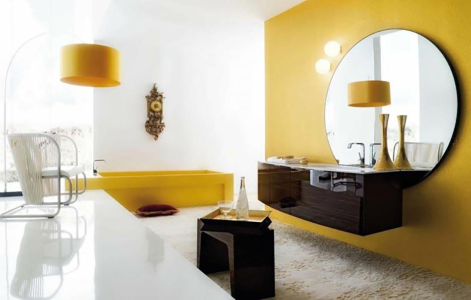 Cerasa ou la salle de bain d une nouvelle g n ration - Accessoire salle de bain jaune ...