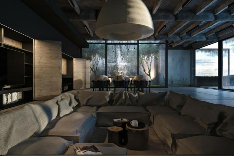 Maison Du Style Industriel Aux Allures Mystiques