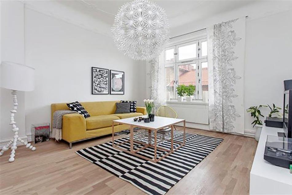 meuble design dans un séjour scandinave | design feria - Meubles Sejour Design