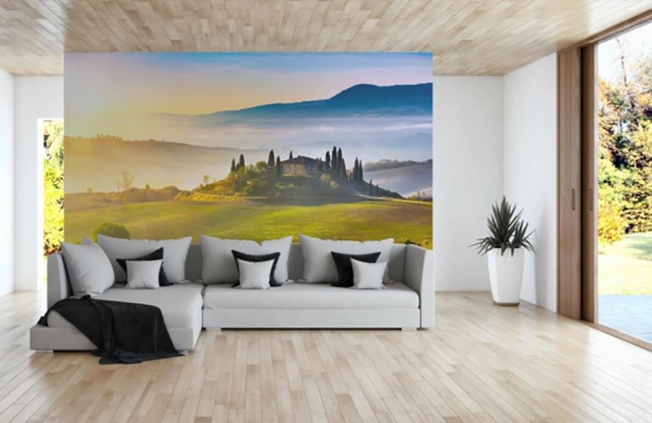 paysage int rieur magnifique en papier peint panoramique. Black Bedroom Furniture Sets. Home Design Ideas