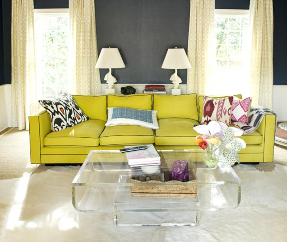 Elegant Vert Anis Pour Salon Déco éclectique. Salon Design Pétillant