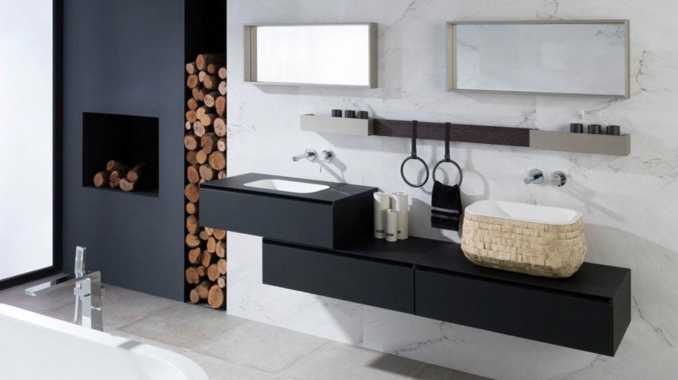 15 id es pour r aliser une salle de bain chic minimaliste. Black Bedroom Furniture Sets. Home Design Ideas