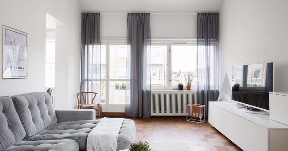 Accrocher Les Rideaux Près Du Plafond Donne Une Impression De Grandes  Fenêtres Et De Beaucoup De Lumière
