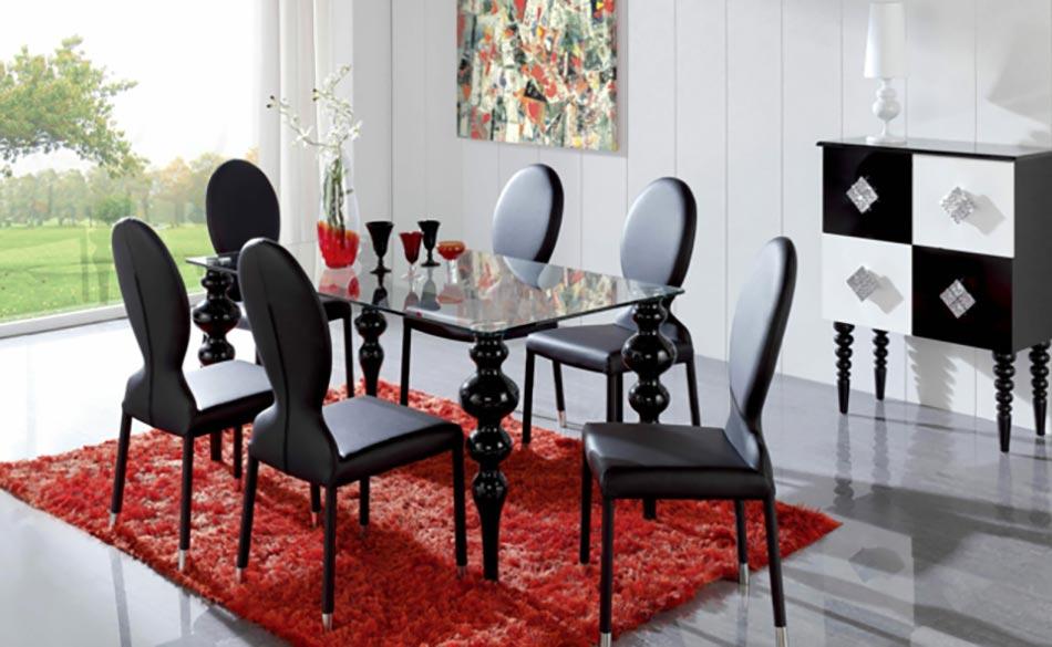 Salle manger moderne aux chaises design uniques design feria for Ambiance salle a manger