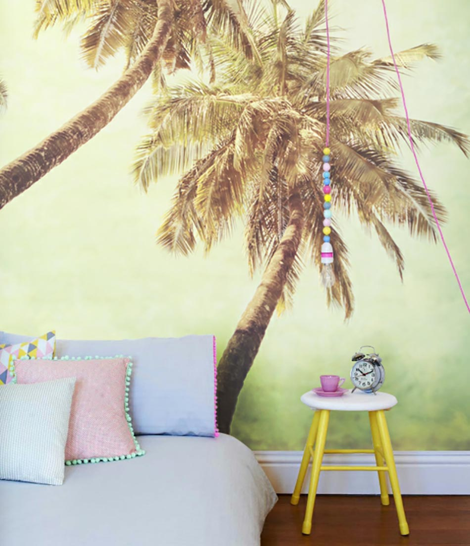 Charmant Stickers Muraux Pixer Aux Palmiers Exotiques
