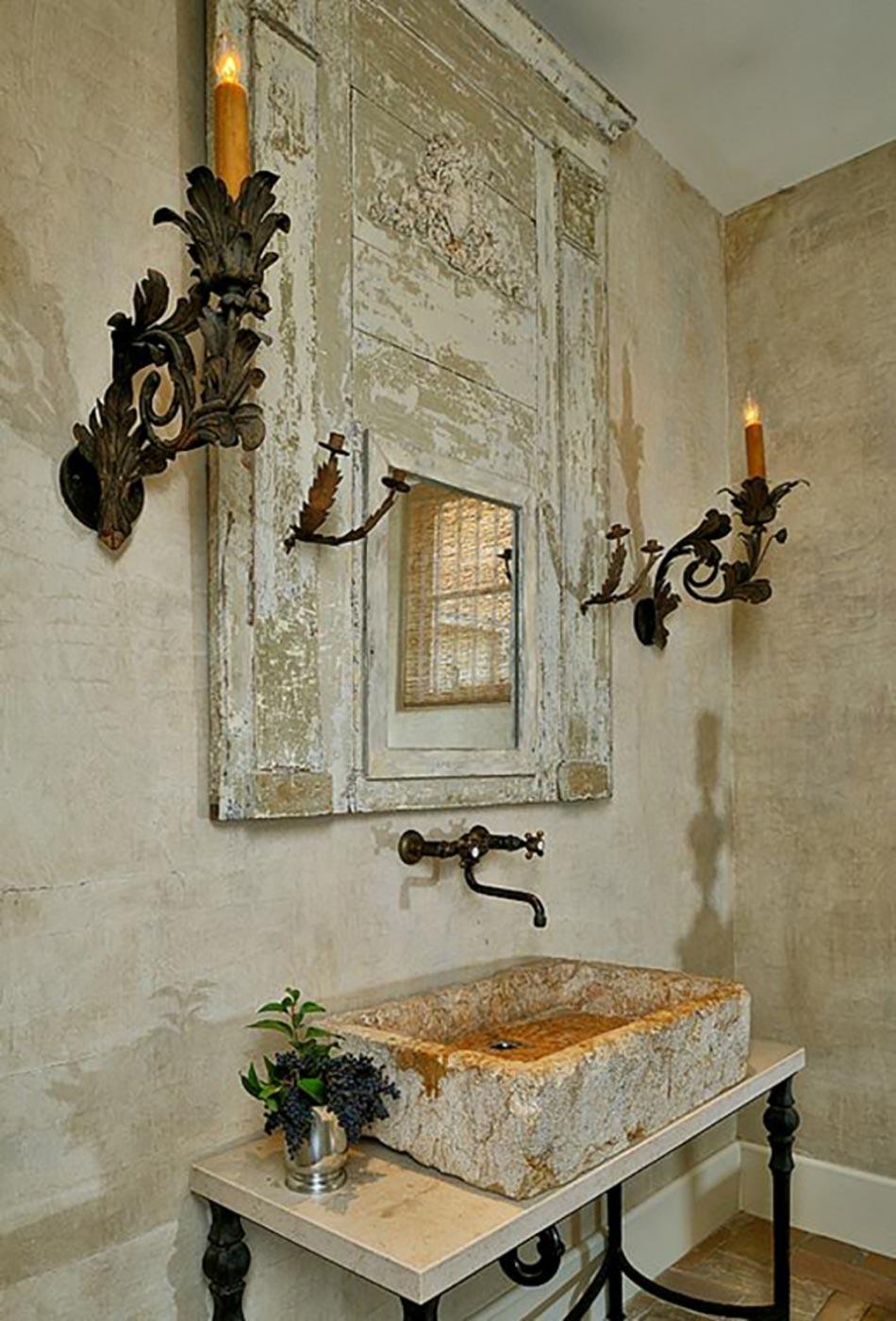 Vasque design ou l ameublement salle de bain original for Salle de bain style shabby