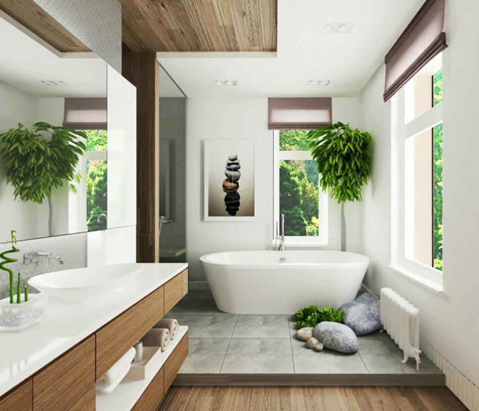 Salle De Bain De Luxe Chic Et Originale Design Feria - Salle de bains zen et chaleureuse