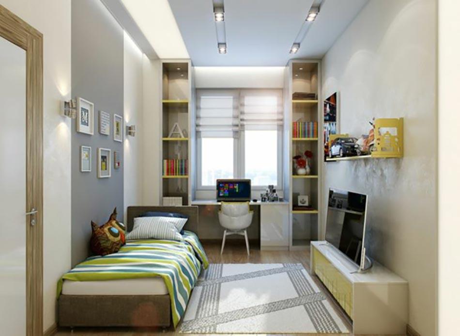 Am nagement chambre d enfant dans un appartement design feria - Amenagement petite chambre 9m2 ...