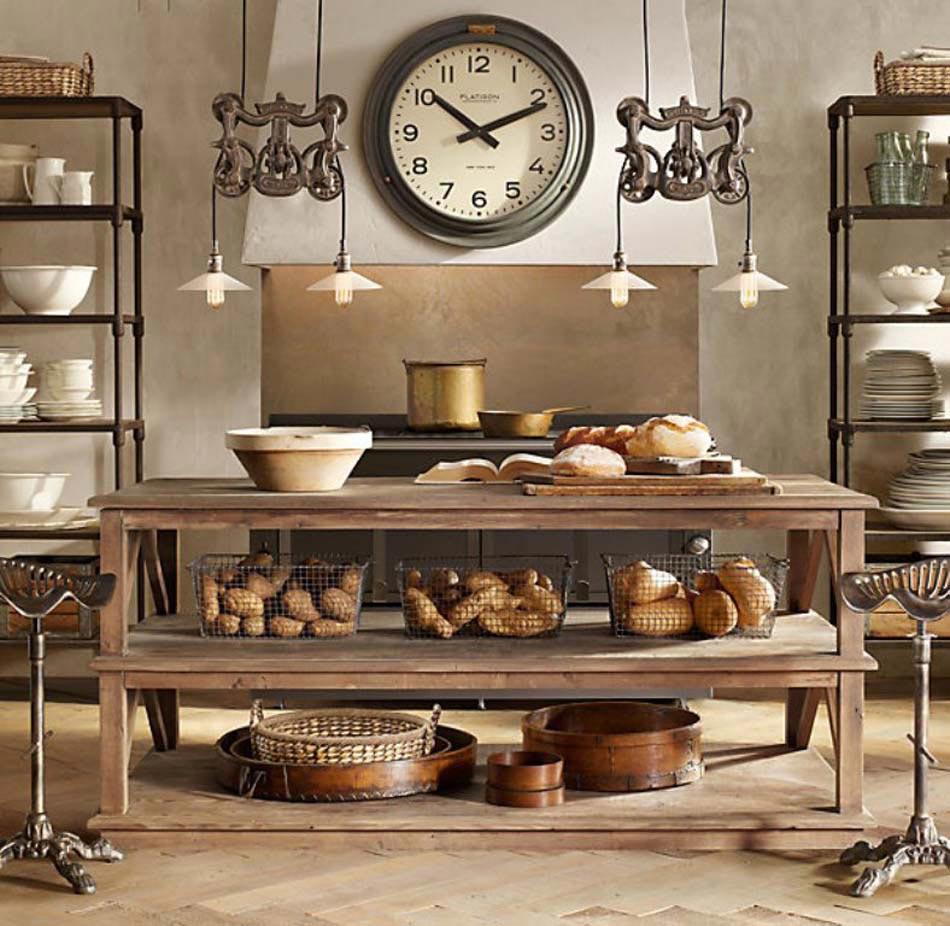 design de cuisine rétro steampunk